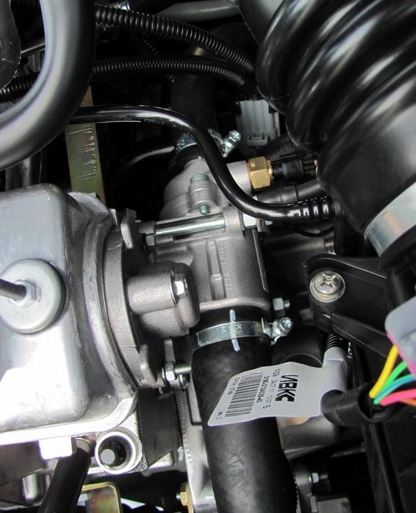 Устаногвленный термостат в двигателе