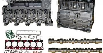 Разобранный мотор камминс